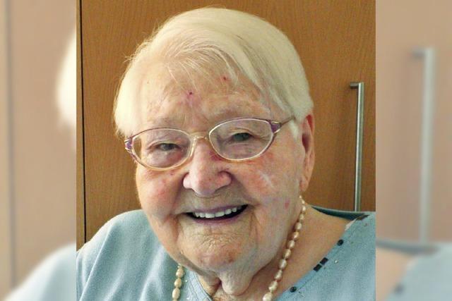 Wilhelmine Sturm hat viel erlebt in 100 Jahren