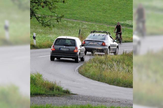 Gefährliche Route übern Dinkelberg