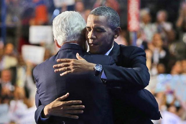 Clinton wirbt für Obama
