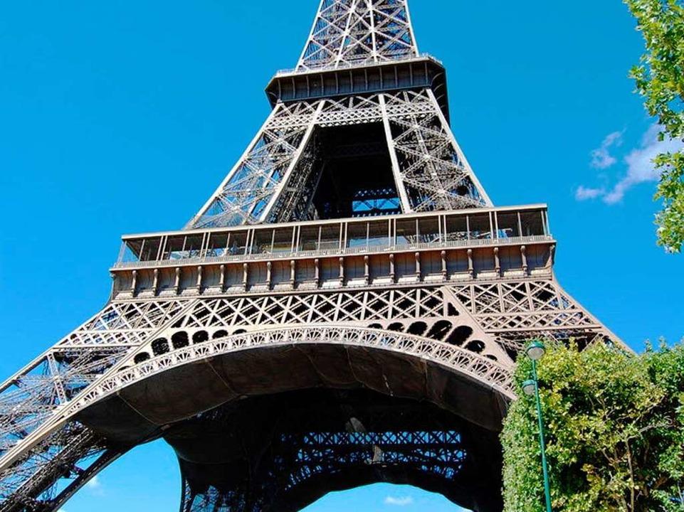 Das Wahrzeichen von Paris: Der Eiffelturm.  | Foto: Webtipps