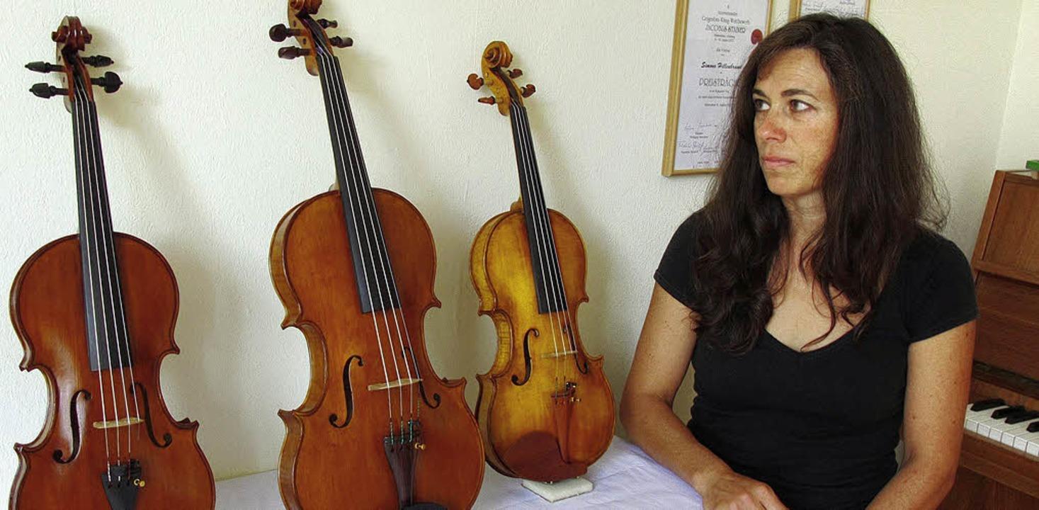 Simone Hillenbrandt Geigenbauerin aus ...erzarten ausgezeichneten Instrumenten.    Foto: Privat