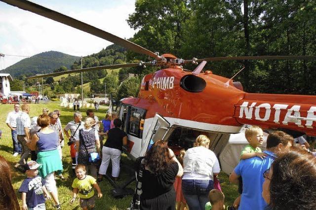 Ein Helikopter als Star des Tages