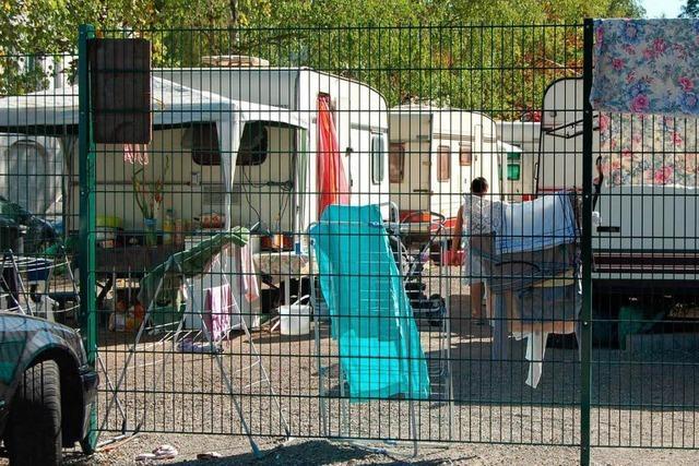 Illegale Romalager in Straßburg vor der Räumung