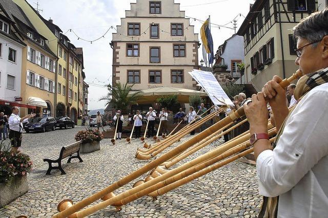 Alphornklänge in der Altstadt