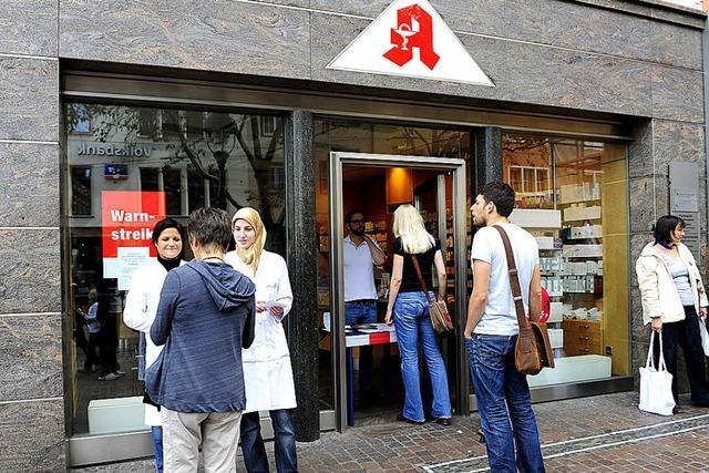 57 Freiburger Apotheken nehmen am Warnstreik teil