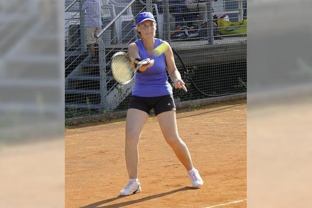 Schweißtreibende Spiele auf Tennisplatz