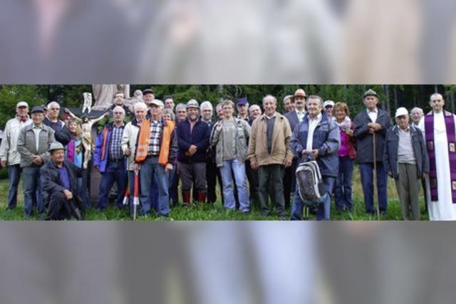 31 Männer und Frauen pilgern zu Fuß nach Todtmoos