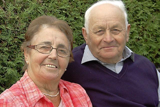 Alfred und Margarete Fehrenbacher im goldenen Kranz