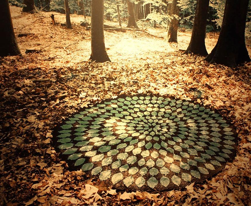 Steine, Schlamm, Sand und Holz bilden ...ur in diesem Werk   von Hama Lohrmann.  | Foto: Marion Pfordt