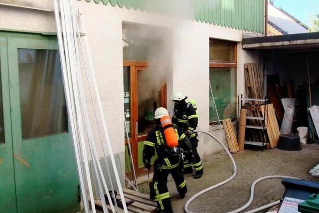 Brand in einer Fensterbaufirma – vierstelliger Schaden