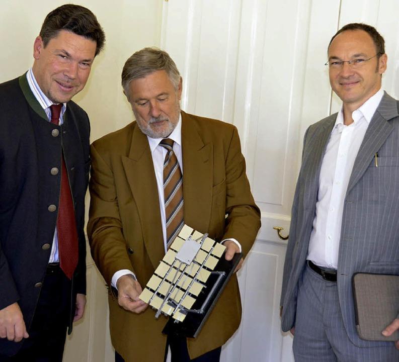 Drei Partner für die Müllheimer Energi...inbeis), Andreas Mezel (Werbeagentur)     Foto: Babeck-Reinsch