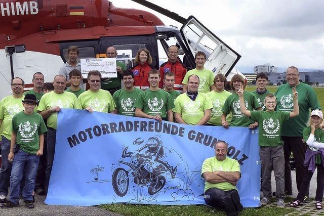 Motorradfreunde helfen Leben retten