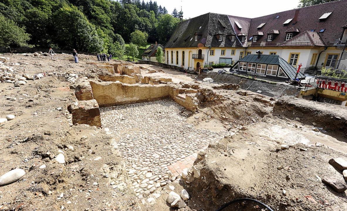 Volle Breitseite: das Ausgrabungsfeld ...ite der Kartaus im Stadtteil Waldsee.   | Foto: Ingo Schneider