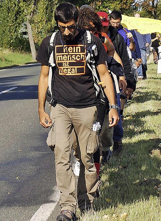 Der Flüchtlingsprotestmarsch   | Foto: Guyton