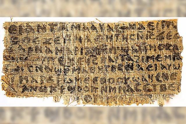 Papyrusfund entfacht Diskussion um mögliche Jesus-Ehe