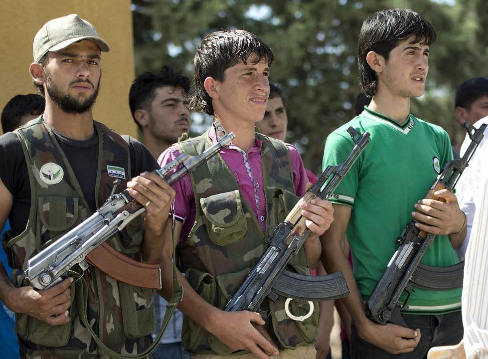 Rebellen in Aleppo   | Foto: AFP