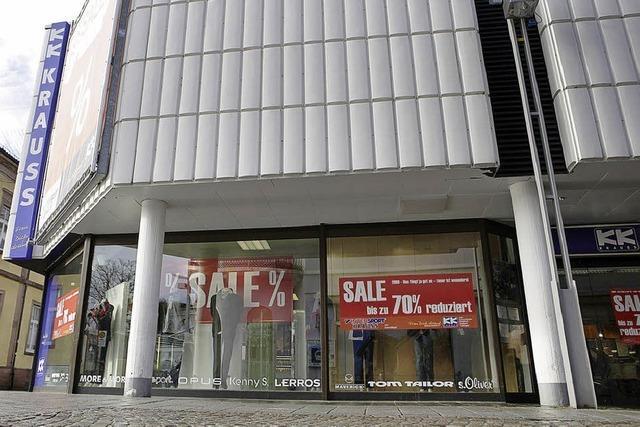 Baustellenstopp im Kaufhaus Krauss
