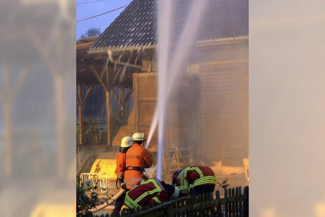 Feuerwehr probt Ernstfall in Schloss