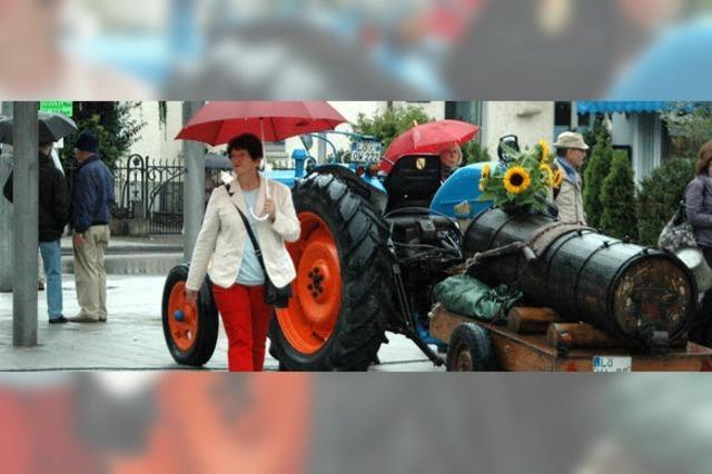 Bauernmarkt trotzt dem Regenwetter