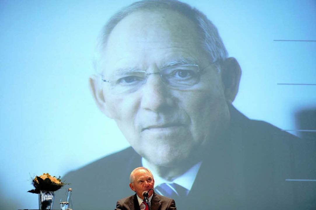 Finanzminister Wolfgang Schäuble hat i...enburg seinen 70. Geburtstag gefeiert.  | Foto: dpa