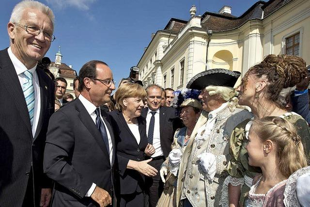 Merkel und Hollande feiern die Freundschaft