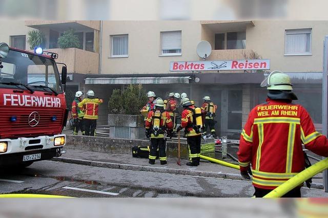 Brand in Reisebüro in der Hauptstraße
