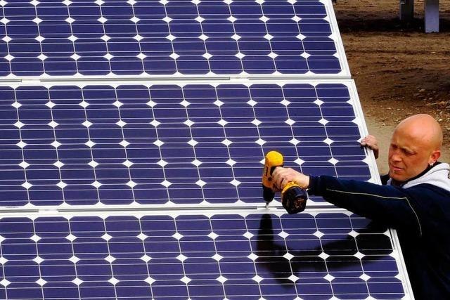 Auf dem ehemaligen Sprengplatz entsteht ein Solarpark