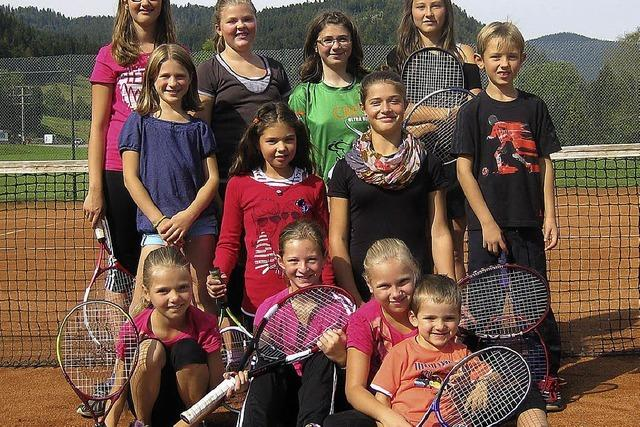 Kinder beenden Tennissaison