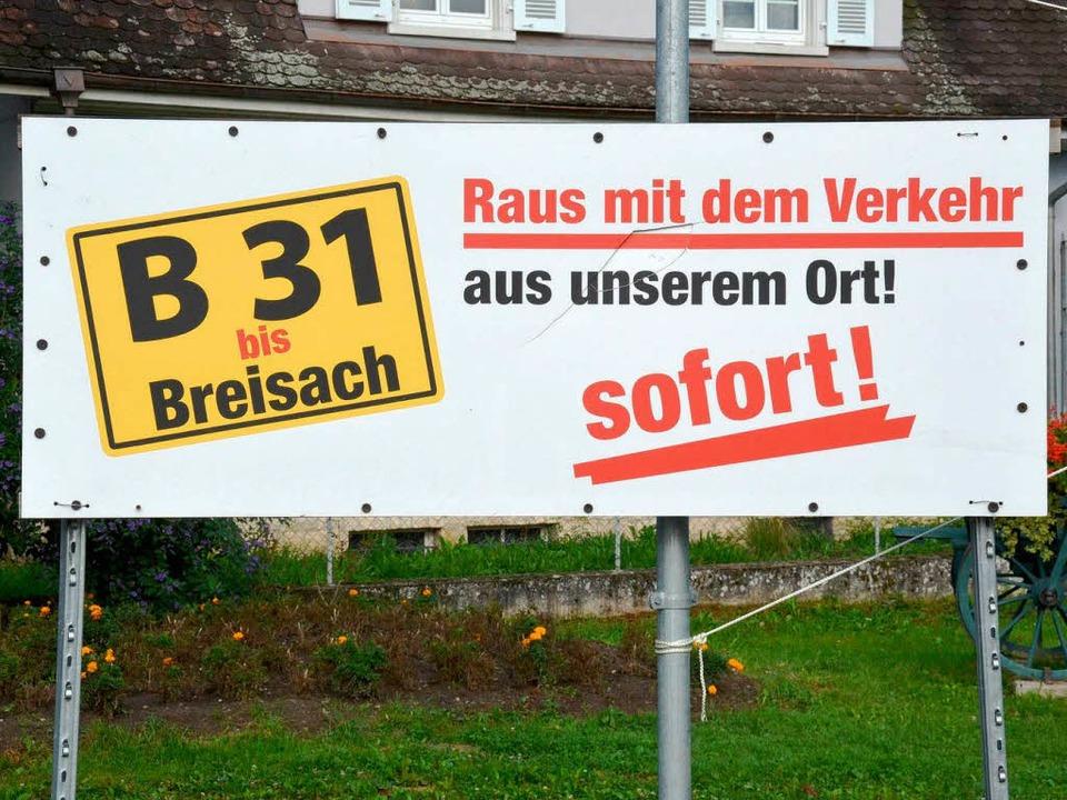 Am liebsten wäre es  den Ihringer Bürg... vom Durchgangsverkehr tangiert würde.  | Foto: Agnes Pohrt