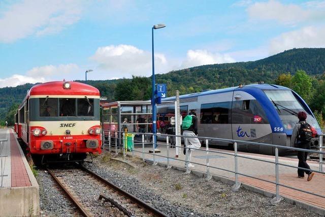 Mit dem Zug von Freiburg nach Colmar