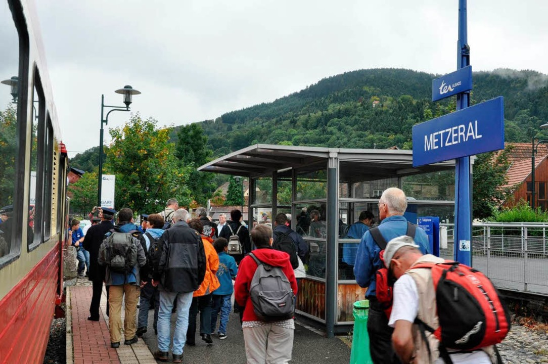 Westliche Endstation für den Sonderzug war das Vogesendörfchen Metzeral.  | Foto: Kai Kricheldorff