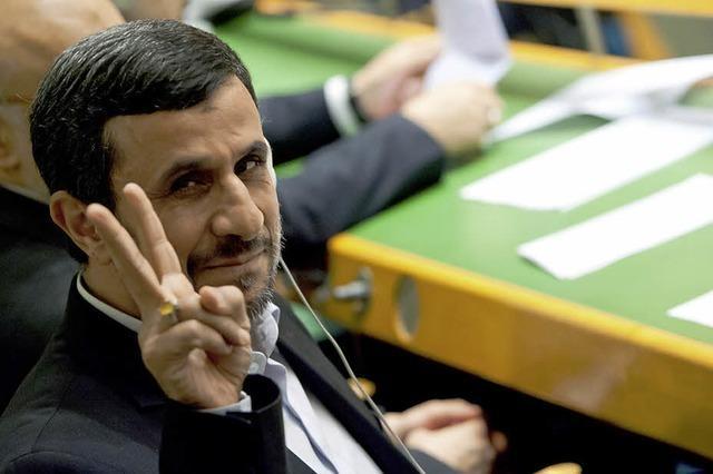 Ahmadinedschad vermeidet Eklat