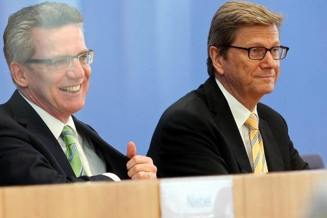 Westerwelle, de Maizière treffen französische Minister in Müllheim