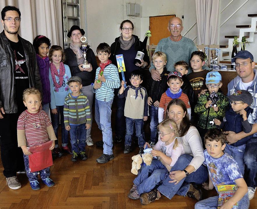 Am Wochenende veranstaltete der Wander... Pokal als größte Kinderwandergruppe.   | Foto: Adrian Steineck