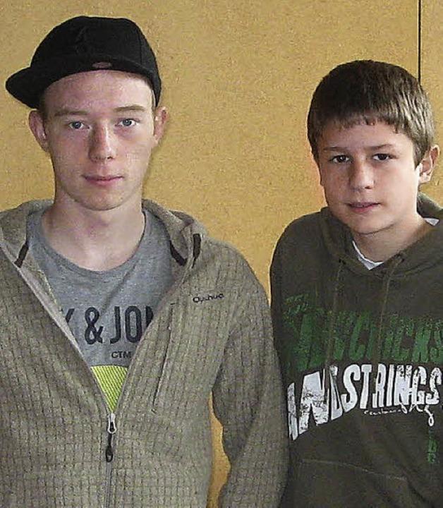Moritz (links) und  Franek    Foto: Roman Kiener