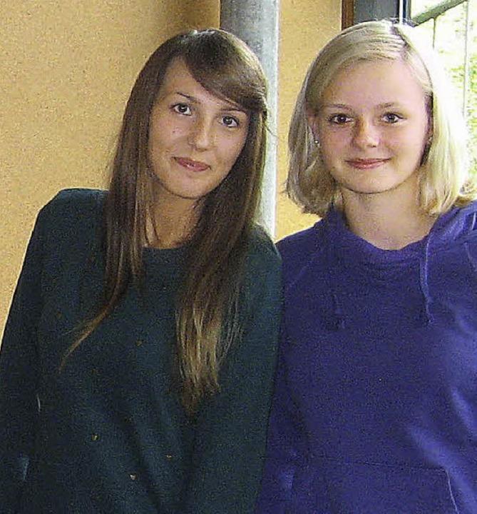 Edyta (links) und  Lara    Foto: Roman Kiener