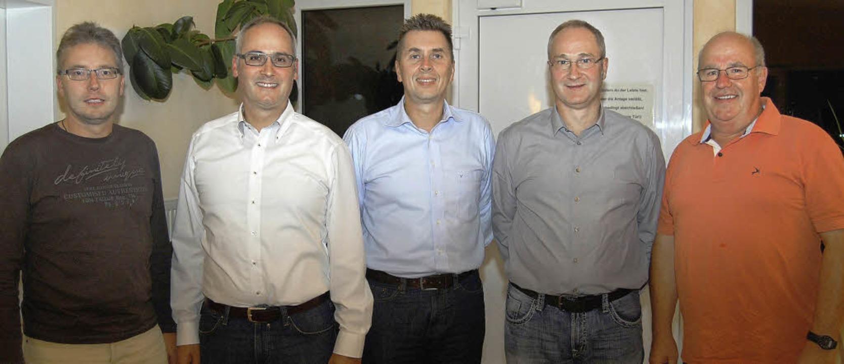 Der Vorstand des neugegründeten  Tenni...er Werner Schaub  und  Thomas Hannig.   | Foto: Renate Tebbel