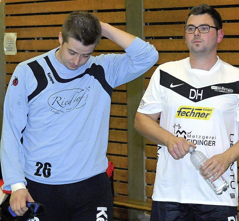 Frustriert: HTV-Torwart Daniel Velz und Trainer Daniel Hasemann   | Foto: wk