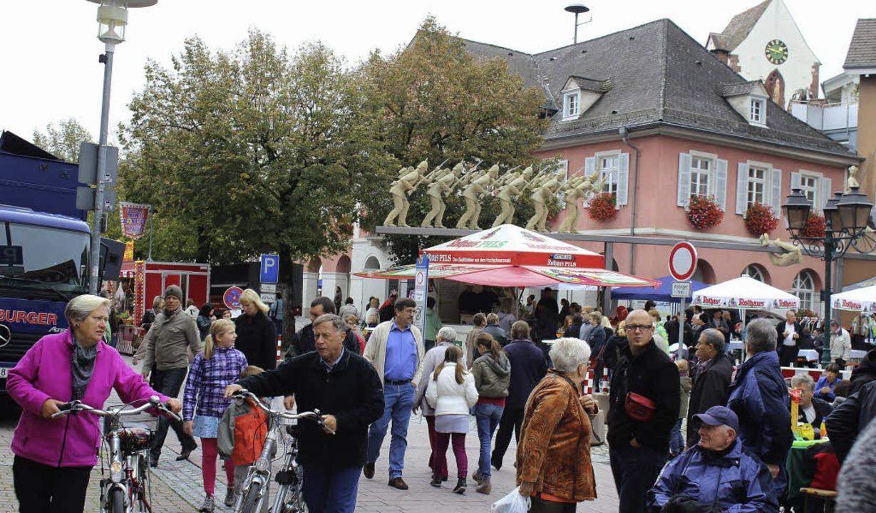 Der Bummel durch Schopfheim machte am ...ot war auch die Musik auf den Straßen     Foto: Jacob