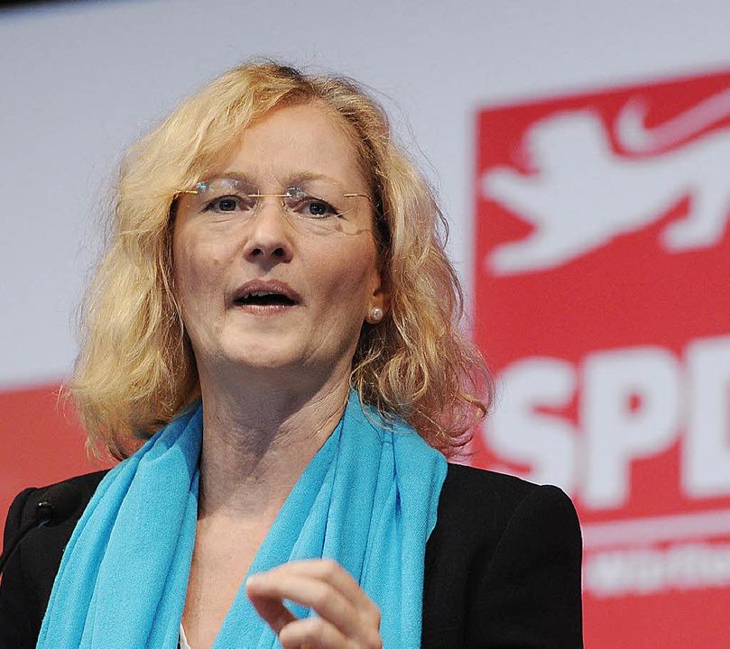 Kultusministerin Gabriele Warminski-Le... kämpfte um Zustimmung für ihren Kurs.    Foto: DAPD
