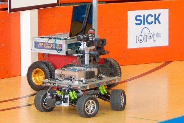 15 Fahrzeuge werden beim 4. Sick-Robot-Day starten