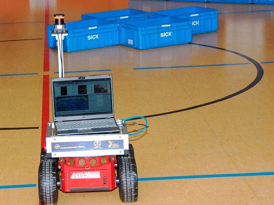 Fahrzeug beim 3. Sick-Robot-Day im Jahre 2010 in Waldkirch.    Foto: Sylvia Timm