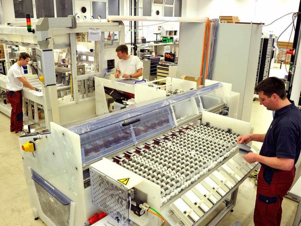 Die Produktion von Rena am Stammsitz in Gütenbach  | Foto: Thomas Kunz