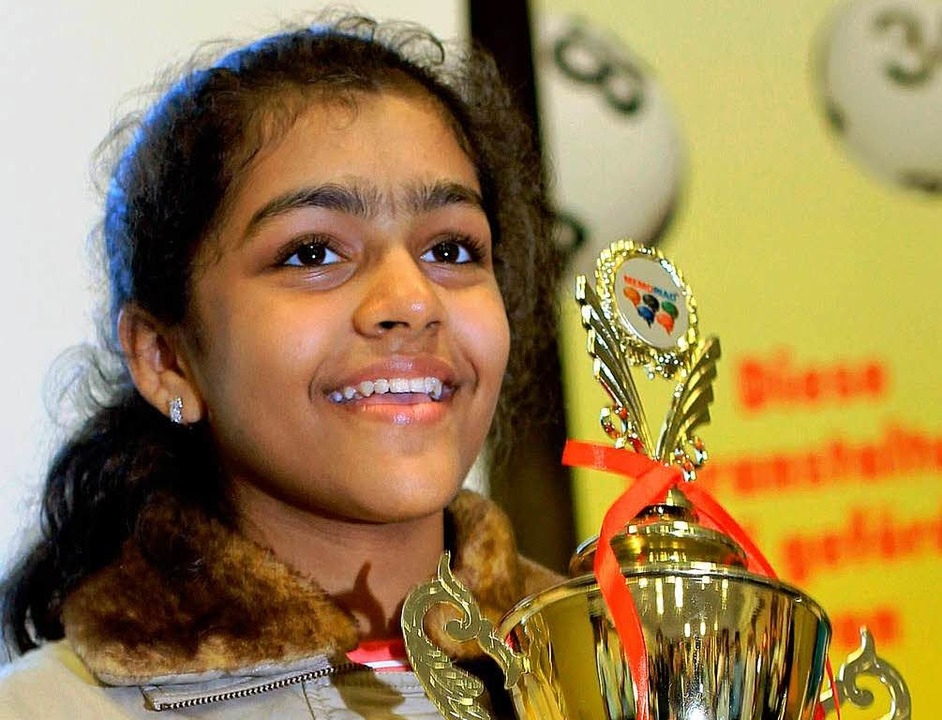 Die damals elfjährige Priyanshi Somani... Gesamtsiegerin der letzten WM 20120.   | Foto: dpa