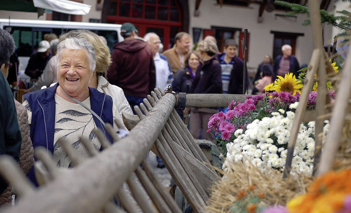 Herbstliches Flair gab es auf dem Enkendorfmarkt am Samstag in Wehr.  | Foto: hildegard siebold/olga Niekrasova