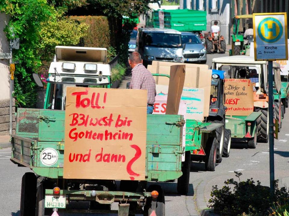 Bürger aus Vogtsburg haben bereits für... Gottenheim bis Breisach demonstriert.  | Foto: Benjamin Bohn