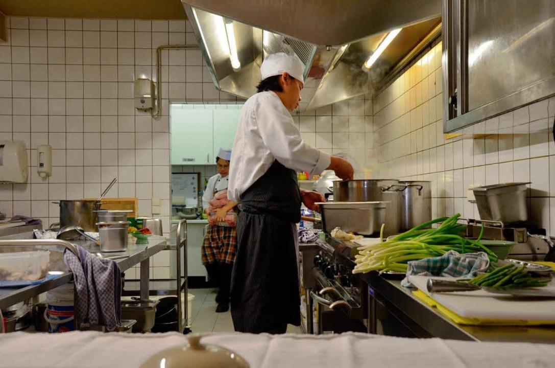 Hochbetrieb herrscht fast jeden Tag in der Küche.  | Foto: Marius Alexander