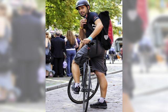 Johannes Schmid ist Fahrradkurier aus Leidenschaft
