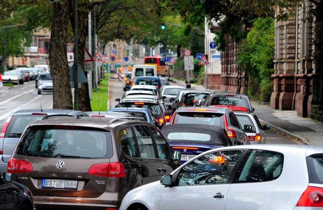 Nichts ging mehr auf der Werthmannstra... am Samstag bis auf die Kronenbrücke.     Foto: Thomas Kunz