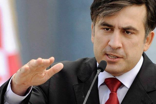 Georgien: Saakaschwili gesteht Niederlage bei Wahl ein